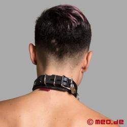 Lockable Leather Bondage Collar