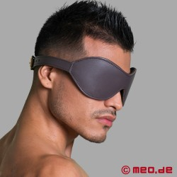 Leather bondage blindfold