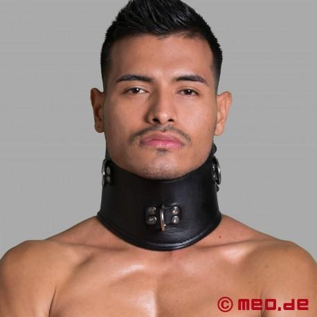 Bondage Posture Collar - Leather neck corset