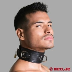 Lockable Bondage Collar - BLACK BERLIN
