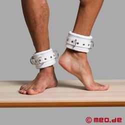 Manette per caviglie bianche in pelle richiudibili CASABLANCA