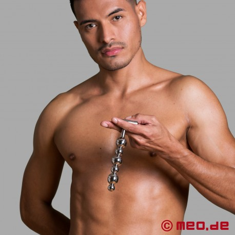 Stainless steel anal dildo - Alpha Male Stimulator with six balls