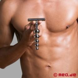 Dildo anale in acciaio inossidabile - Stimolatore Alpha Male con cinque sfere
