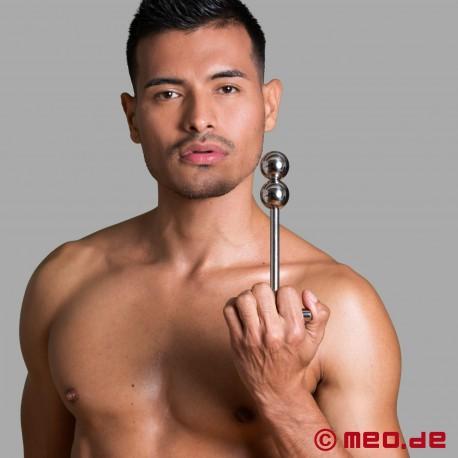 Dildo anale in acciaio inossidabile - Stimolatore Alpha Male con due sfere