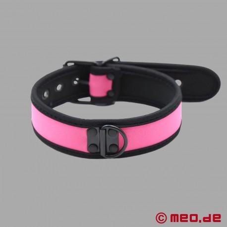 Collare BDSM in neoprene rosa