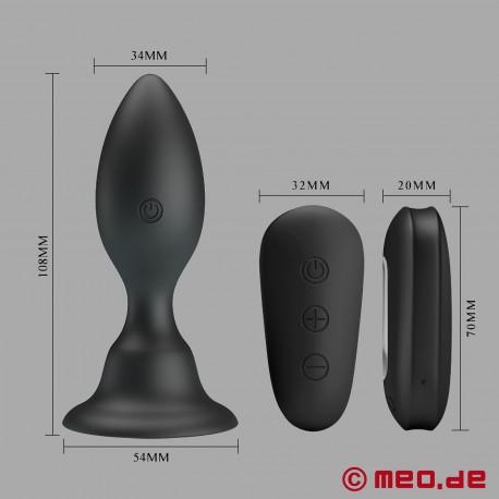 ASSGRESSOR vibrating butt plug with remote control