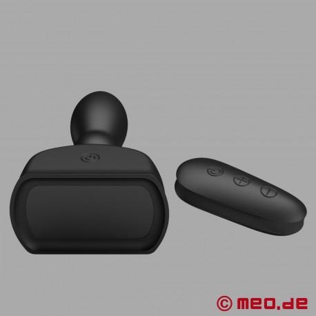 Plug anal gonflable vibrant avec télécommande