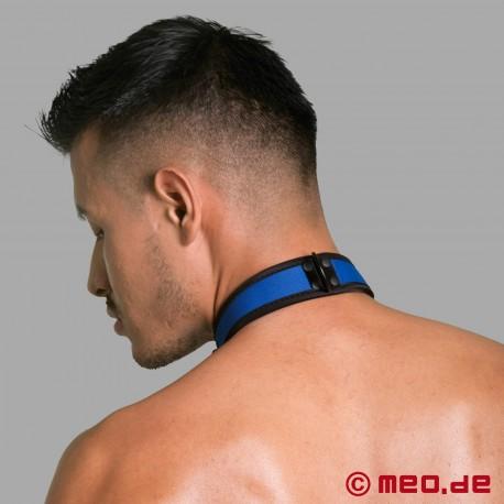 Collare BDSM in neoprene - blu