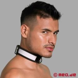 BDSM Halsband aus Neopren in weiß