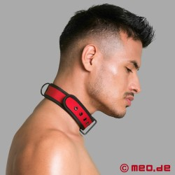 Collare BDSM in neoprene - rosso