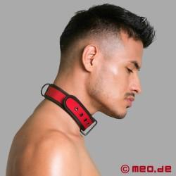 BDSM collar made of neoprene in red