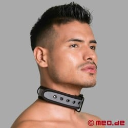 BDSM collar made of neoprene in grey