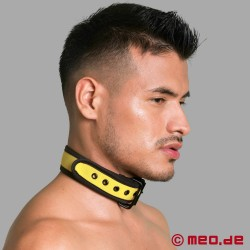 Collare BDSM in neoprene - giallo