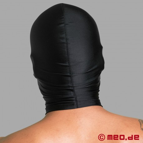 Spandex mask with nose holes and mouth zipper