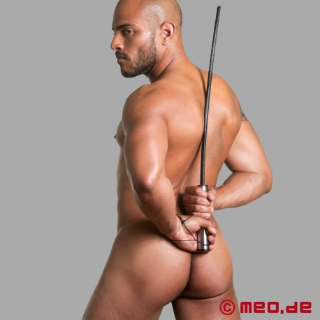 HURTME: Leather and stainless steel cane