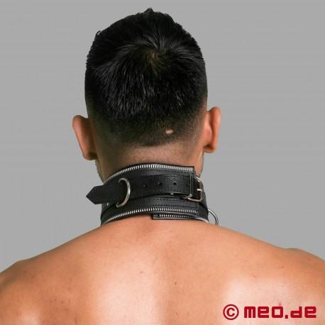 Collare di bondage in pelle nera