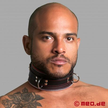 Code Z Bondage Halsband schwarz/rot
