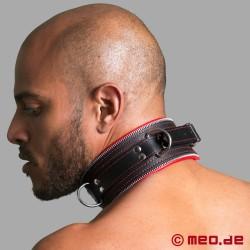 Bondage Halsband schwarz/rot Code Z