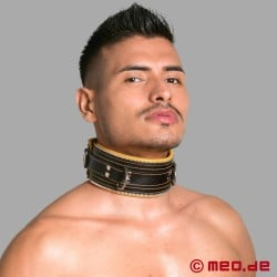 Bondage Collar black/yellow Code Z
