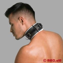 Bondage Halsband schwarz/weiß Code Z
