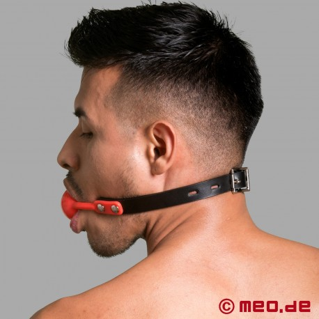 Red lockable ball gag