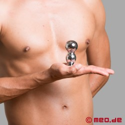 Amoremeo Double Shot Buttplug aus Metall