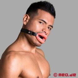 Mundknebel Blow Job mit dicken Lippen