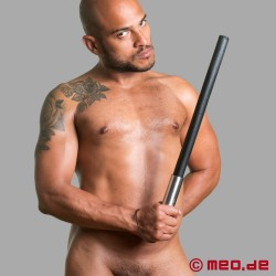 HURTME: Leather and steel baton