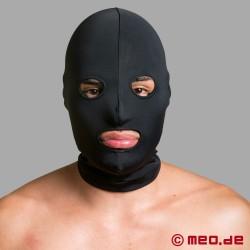 Masque BDSM en spandex avec bouche et yeux