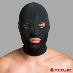 Spandex BDSM mask with eyes and mouth