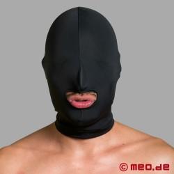 Spandex bondage mask with mouth