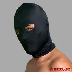 Maschera bondage in spandex con apertura per occhi