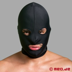 Spandex Hood BDSM - 2-layer - with eyes and mouth