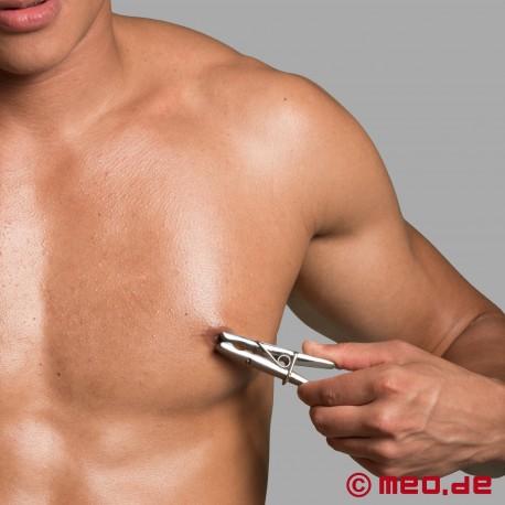 Pinces à tétons lourdes en acier - Pinces à linge inox