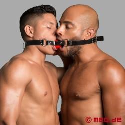 Kussknebel - Doppelknebel für 2 Sklaven