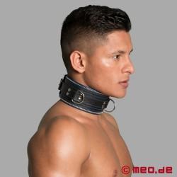 Bondage Halsband schwarz/blau Code Z