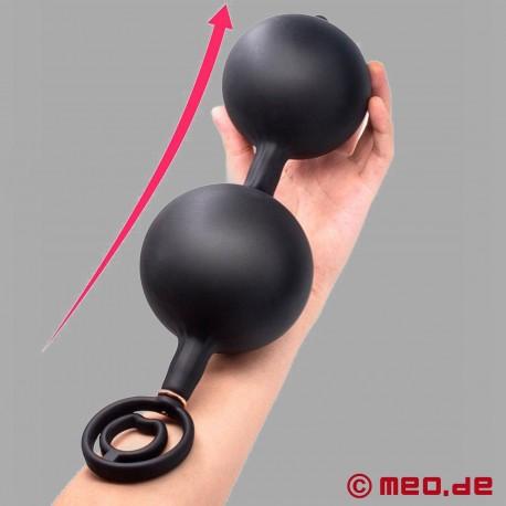 Sfere anali gonfiabili con peso e anello del pene