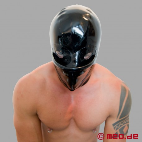 Latex mask with urinal