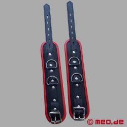 Fußfesseln aus Leder – schwarz/rot – Amsterdam