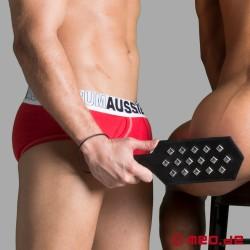 BDSM Paddle aus Leder mit Nieten