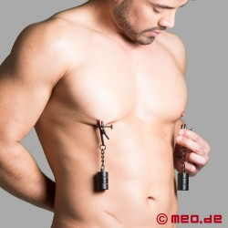 BDSM nipple clamps with weights