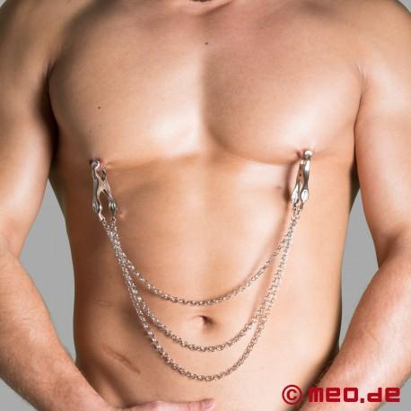 Dr. Sado Triple Chain Nipple Clamps
