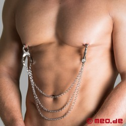 Dr. Sado Triple Chain Nipple Clamps