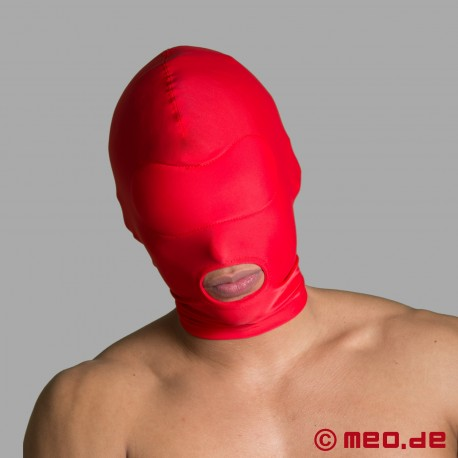 BDSM Mask – Spandex Hood - open mouth hood