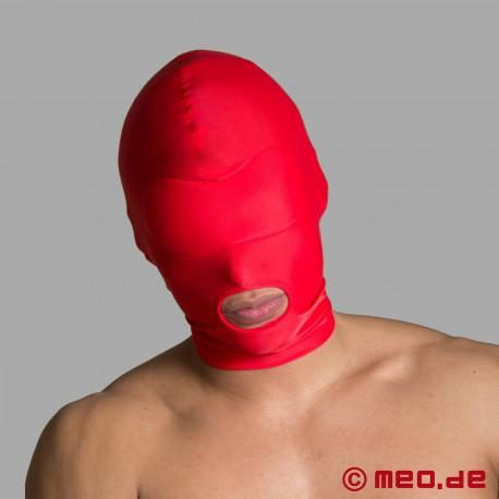 Maschera BDSM in spandex - apertura della bocca