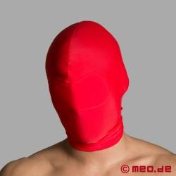 Blickdichte BDSM Bondage Maske aus Spandex