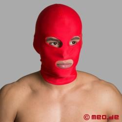 BDSM Maske für Bondage - Spandexmaske mit Mund- und Augenöffnungen