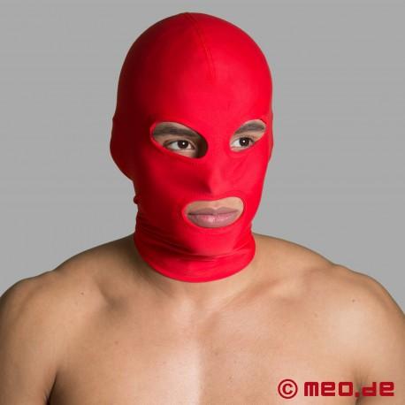 BDSM Maske aus Spandex – Mund- und Augenöffnungen