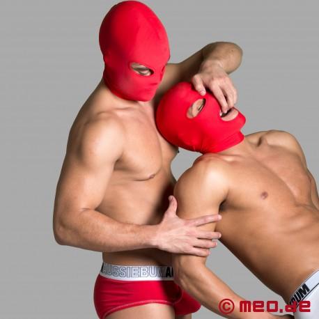 Cagoule BDSM en spandex – Orifices bucal et oculaires