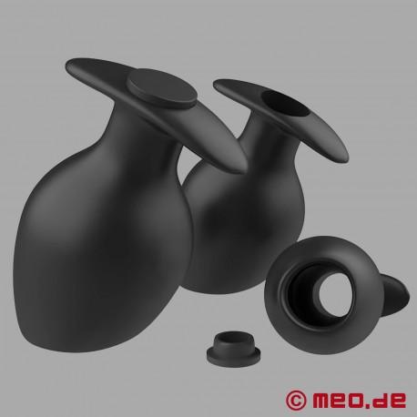 Plug anale voluminoso con tappo di chiusura da utilizzare 24/7